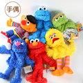 Кэндис го! супер милые плюшевые игрушки мультфильм Улица Сезам Elmo cookie monster Гровер руку кукол дети подарок на день рождения 1 шт.