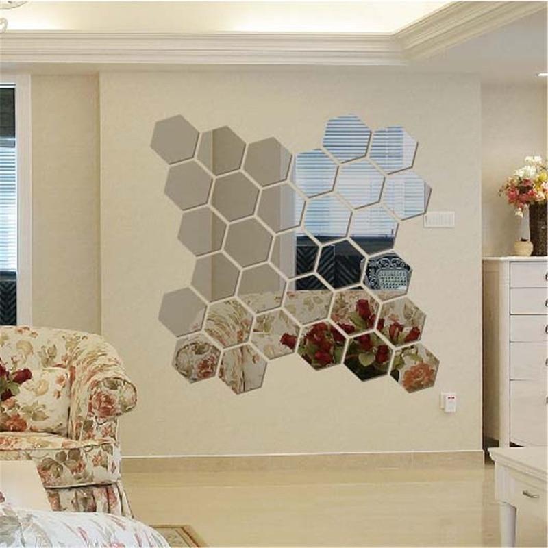 Achetez en gros hexagone miroir en ligne des grossistes for Miroir geometrique