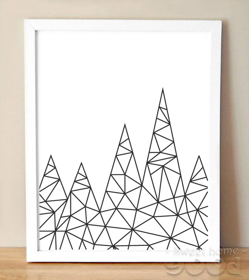 Simple Cartoon Iceberg Canvas Art Print, Wall Pictures for Home Decoration, Painting Poster Frame not include FA215