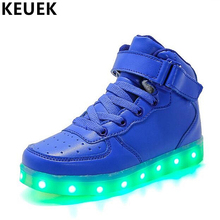 Children Casual shoes Fashion Light Sneakers LED USB Luminous Lighted Shoes Kids Boys Girls Flats Sport 019