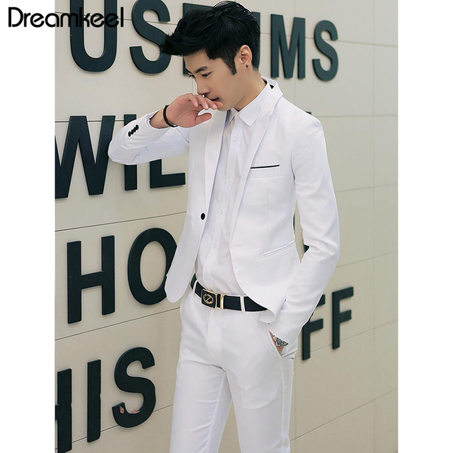 2019(Jacket+Pant) Men Blazer Suits High Quality Cotton Slim Fit Men Suit Blazers Male Jacket Suit Blazer men suits for wedding Y
