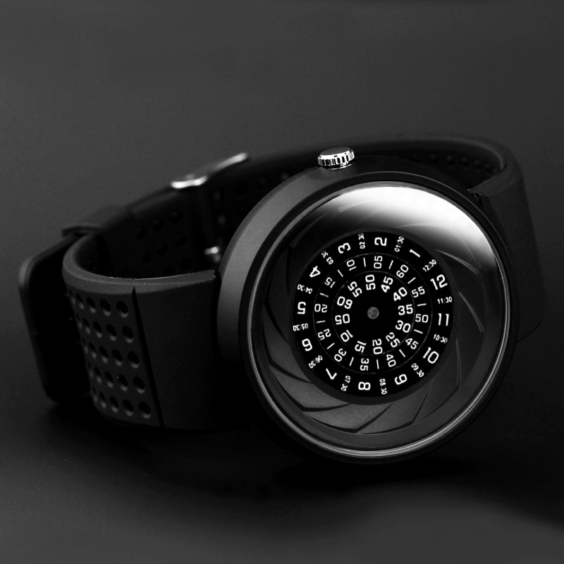 2019 Men's Gift Enmex Creative Industrial Design Lens And Prism Wristwatch Digital Design Light Sports Fashion Quartz Watches