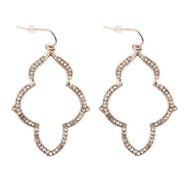 2017 Новый бренд розовое золото со стразами Стелла серьги Арабески женские открытые люстры модные ювелирные изделия