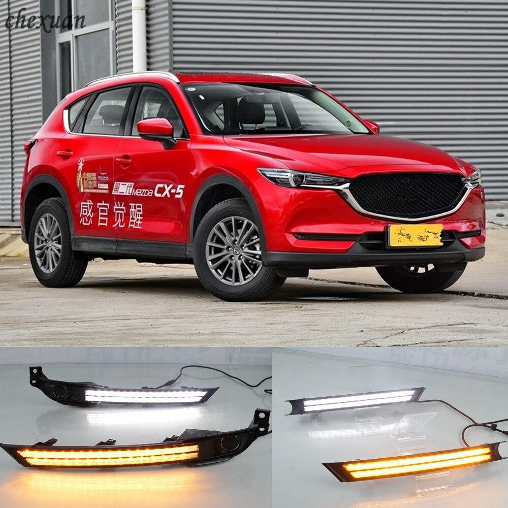 CSCSNL 2pcs Car LED For Mazda cx 5 cx5 cx 5 2017 2018 2019 12V Fog