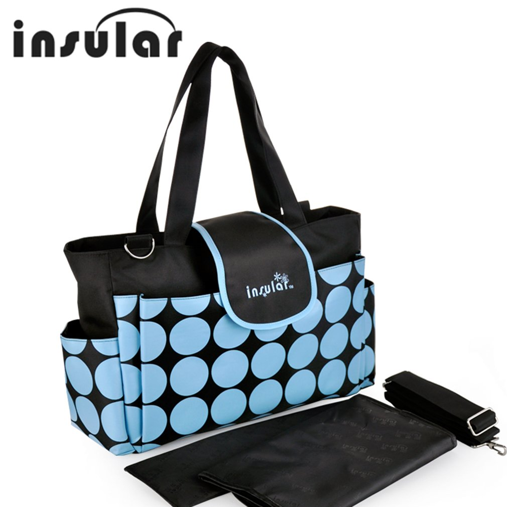 Insular Diaper Bag Beautiful Dot Printed 210d Nylon Mummy Multifunctional Travel Newborn Baby Ny Portable In Bags From Mother Kids On