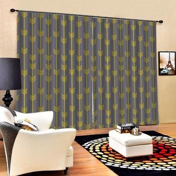 grey curtains Blackout curtain Bedroom 3D Window Curtain Luxury living room decorate Cortina