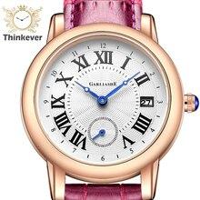 W1172 GARLIASHE Impermeable Encanto Moda Mujer Reloj de Pulsera de Cuarzo Reloj de pulsera de Cuero Casual Relojes de Regalo Relogio Feminino