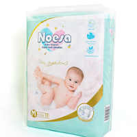 NOESA NDM-72 Premium Baby Diapers Size 2,Disposable Diapers,72Count,Slim & Soft, for 6-11kg(Medium)
