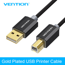 Vention USB 2 0 Printer font b Cable b font Gold Plated font b Cable b