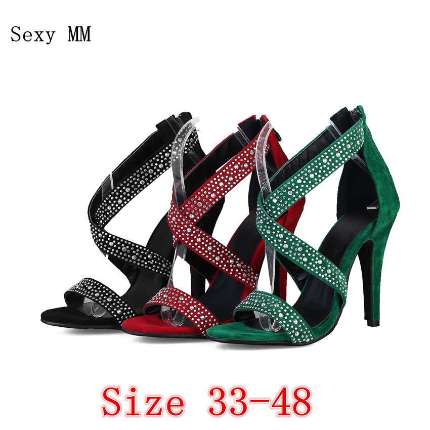 Women Gladiator Sandals High Heels Summer Pumps Shoes Woman High Heel Sandals Plus Size 33 - 40 41 42 43 44 45 46 47 48 suru designer shoes wedding heels women sexy open toe cut out side summer sandals high heels large size 40 41 42 43 44 45 46 a39