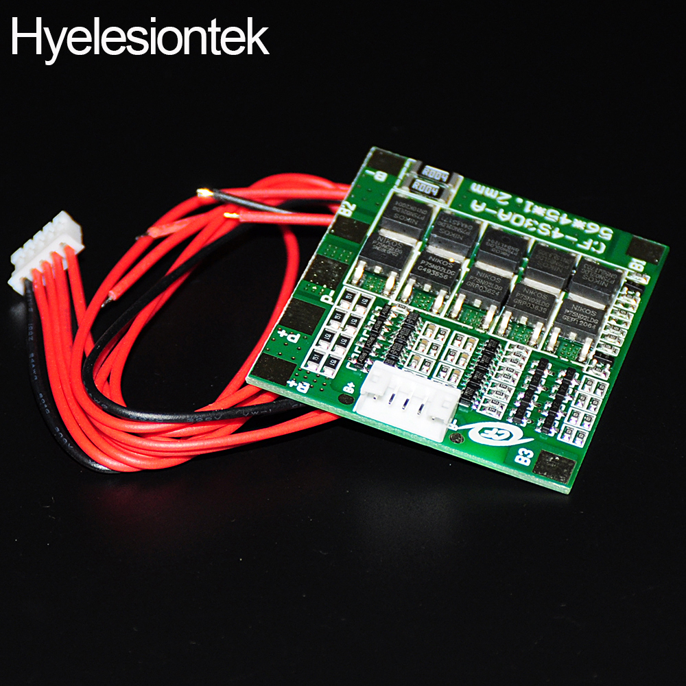 4s 30a 148v 16v Bms Li Ion Lithium Polymer Battery Protection Circuit Module Pcm For 111v 3s Liion Lipolymer And Balance Charging Board With Balancing In Integrated Circuits From