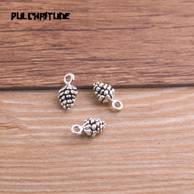 20pcs 5*7*13mm New Three Color Pine Nut Charms  Christmas Pendants For DIY Jewelry Handmade Making Accessorie P6794 6