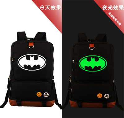 ФОТО Batman Desinger Printed Backpack School Bag Large Size Laptop Bag Xmas Gift Mochila Boys Girls