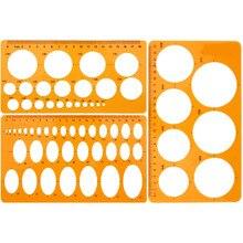XRHYY круглые шаблоны пластиковые круглые и овальные шаблоны измерительные шаблоны для офиса школы строительная опалубка чертежи