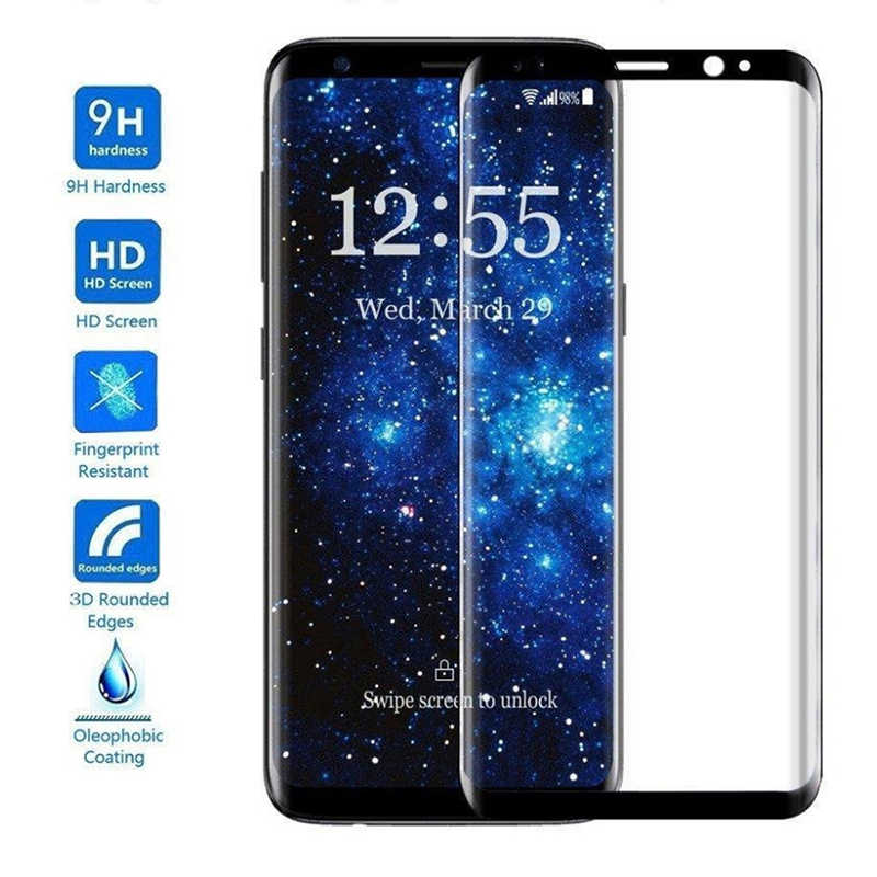 A6 Plus 2018 Full Cover Screen Protectors For Samsung Galaxy S8 S9 Plus Note 8 9 S7 Edge Tempered Glass For Samsung S8 S9 Plus