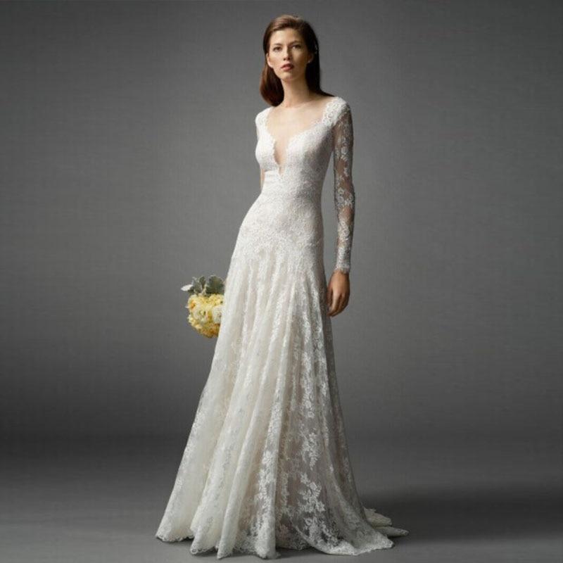 Popular long sleeve muslim wedding dress buy cheap long for Cheap long sleeved wedding dresses