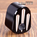 Black And Cast Deep Cut Aluminium Motorcycle Ignition Switch Cover For Harley 14 - 16 FLHX / FLHT / FLTR / FLHTCUTG
