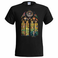 Brand Clothes Summer 2017 Banksy Stained Glass Window Mens T Shirt Graffiti Art Urban Art