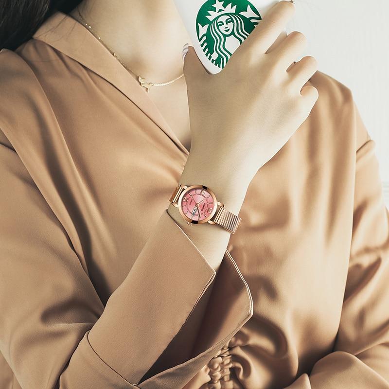 GIMTO Mini Dress Women Watches Silver Brand Quartz Ladies Watch Fashion Girl Bracelet Wristwatch Relogio Feminino Montre Femme 3