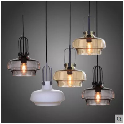 Personalized Living Room Lights Edison Light Bulb Single Head Glass Chandelier Restaurant Bar Cafe Lamp northern creative mix color retro restaurant chandelier edison bulb living room lamp bar lamp cafe light free shipping