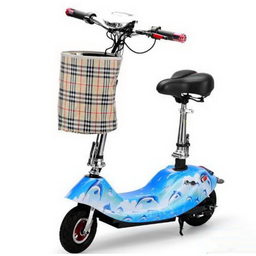 Excellent 261002/Ladies portable mini dolphin electric scooter / can carry children electric bikes / electric cars/Comfortable cushion 0