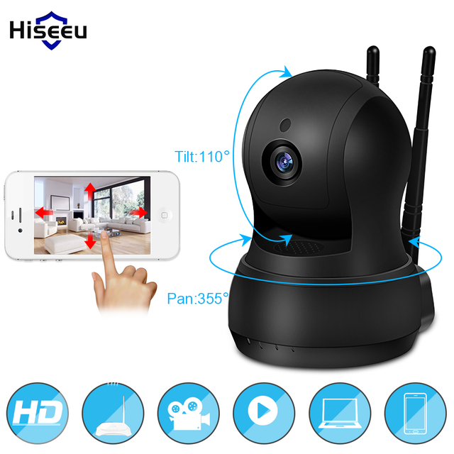 IP Camera Wi-Fi Wireless Network camera wifi HD TF Card Record Security CCTV Camera Night Vision Defender 720P H.264 hiseeu FH5