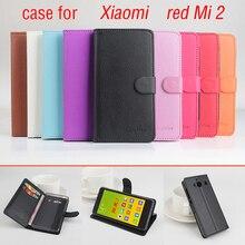 Для Xiaomi Redmi 2 Leather Case Личи Текстуры Новый Оригинальный откидная Крышка Для Xiaomi Red mi 2 Case Чехол Защитный случаях