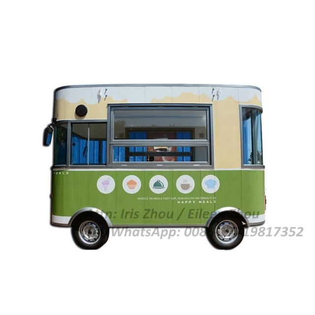 Bus électrique de vente de nourriture de chariot de restauration rapide Mobile de rue extérieure électrique
