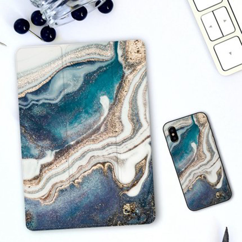 Flowing Sand Magnet Trifold Case For IPad Air 2 2018 9.7 Mini 1 2 3 4 5 Smart Case For Ipad Pro 10.5 12.9 11 Inch