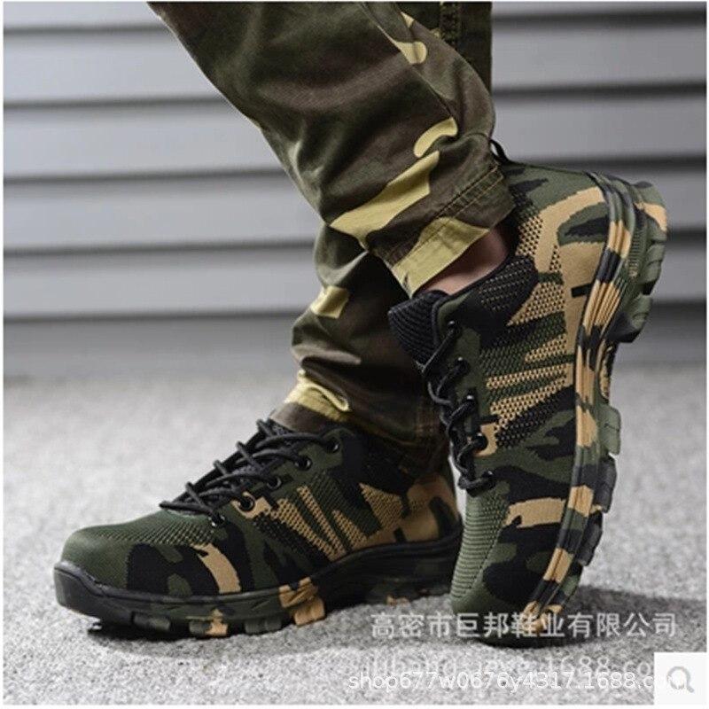 Anti cinza verde esmagamento Sapatos Anti Exército São derrapagem Resis Azul Segurança Homens Dos verde Desgaste Anti piercing E Lazer Leves De Respirável Camuflagem wRpHSOfnq
