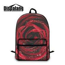 Dispalang красная роза цветок женская мода ноутбук рюкзаки марка mochilas masculina рюкзак для детей многофункциональный рюкзак