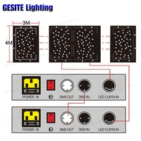 led star controller star curtain stage background rgbw cloth console