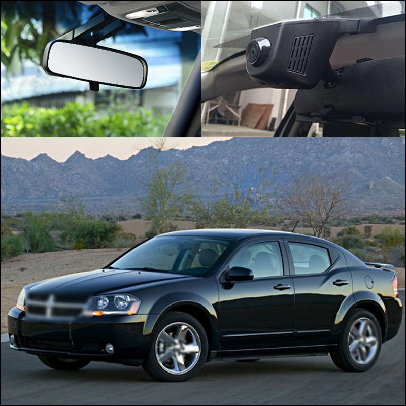 BigBigRoad-enregistreur vidéo voiture   Pour Dodge Avenger, application, contrôle Wifi DVR, détection de mouvement, caméra de stationnement, vision nocturne