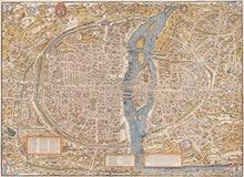 Vintage carte affiche Le plan de Paris par trustchet et Hoyau classique toile peintures Vintage affiches murales autocollants décor à la maison cadeau