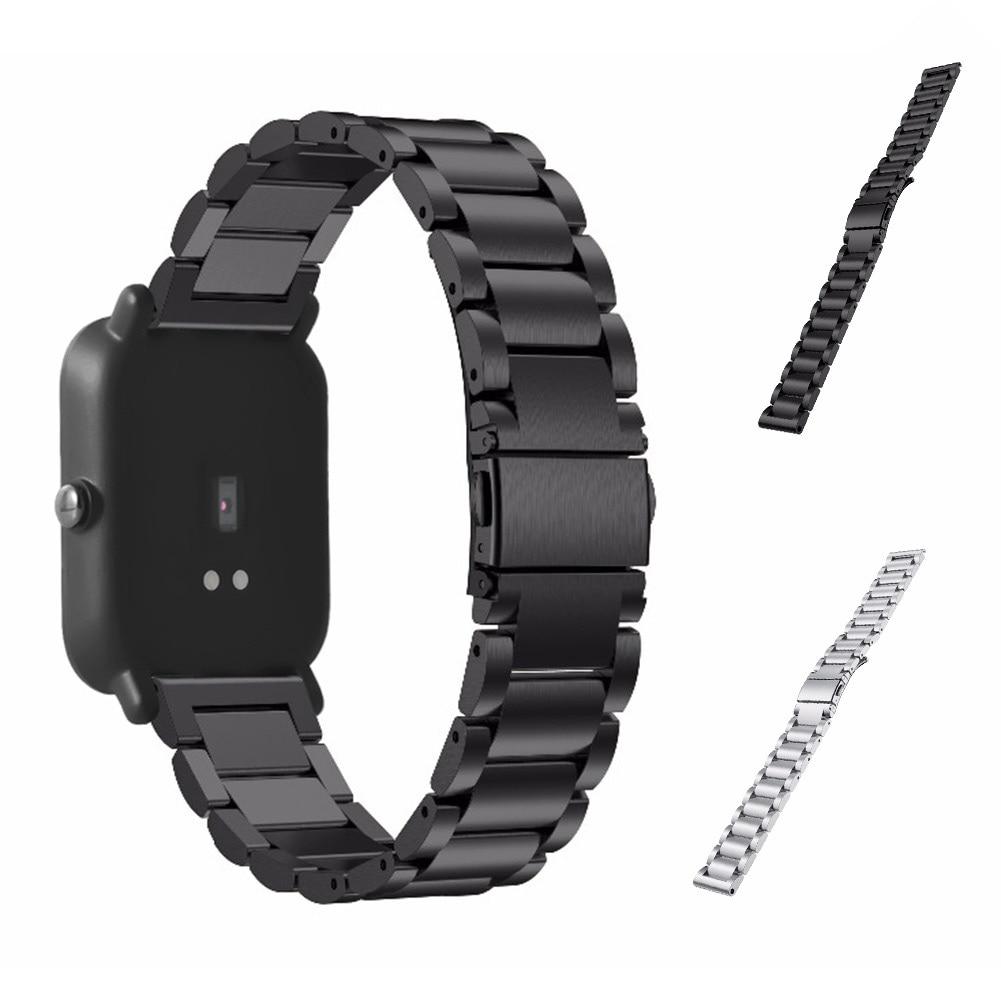 20mm Smart Armband Edelstahl Uhren Gurt Ersatz Uhrenarmband Für Xiaomi Huami Amazfit Jugend Bit @ JH