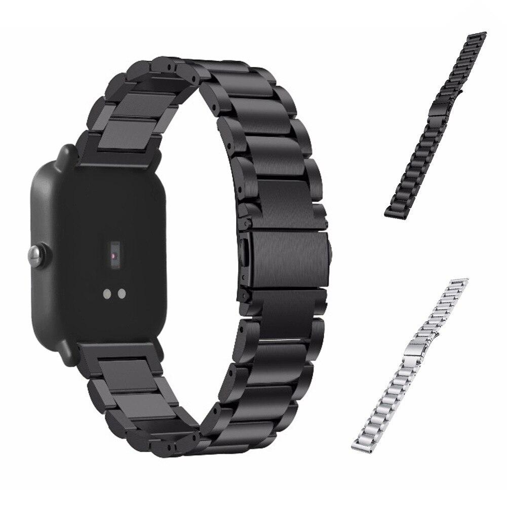20mm Smart Cinturino In Acciaio Inox Orologi Strap di Ricambio Cinturino Per Xiaomi Huami Amazfit Gioventù Bit @ JH