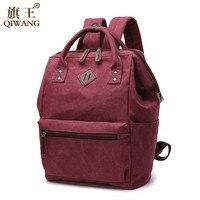 Mini backpack For Girls Canvas backpack Women bag teenage girl school bag vintage canvas kanken backpack solid mochila feminina