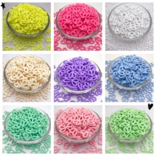 50Pcs 16mm Lovely Hollow Heart Candy Color Acrylic Spacer Beads For Jewelry Making Diy Bracelets Necklaces Accessorise Findings