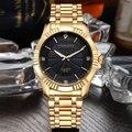 Relógio de ouro Dos Homens Relógios Top Famosa Marca De Luxo 2016 Relógio de Pulso Masculino Relógio de Quartzo de Ouro Relógio de Pulso Relogio masculino