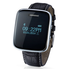 2016 Fashion Leather Strap Support Music Ringing and Vibrate Remind Alarm Color Smart Watch for Android