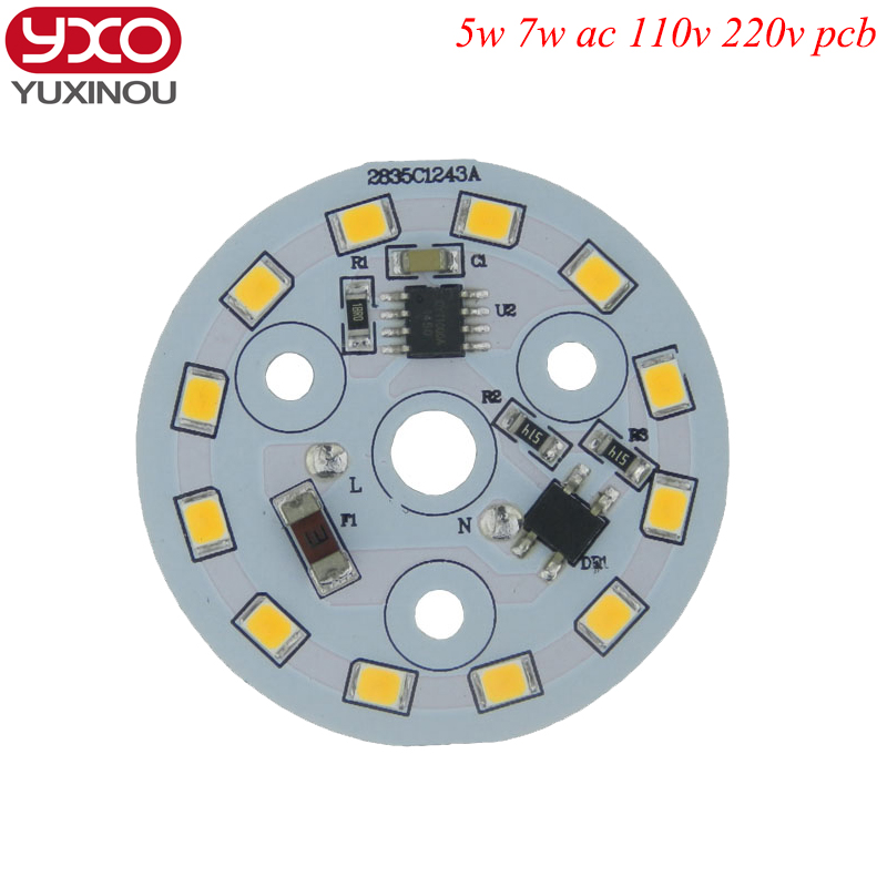 AC 110V 220V 5730 SMD dimmable led pcb plate 5W 7W 9W 12W integrated ic driver lamp panel White Warm White for led bulb,led lamp