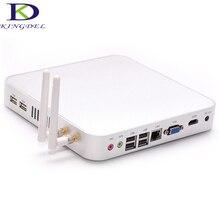 Без вентилятора и металлический корпус терминал Mini PC тонкий клиент мини-компьютер 8 ГБ Оперативная память + 320 ГБ HDD Intel Celeron 1037U 1080 P HDMI 6 * USB Порты и разъёмы