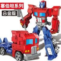 Best Gift Alloy Version Robot Model Toy Figures Deformation Robots Toys Boy Birthday Present Free Shipping