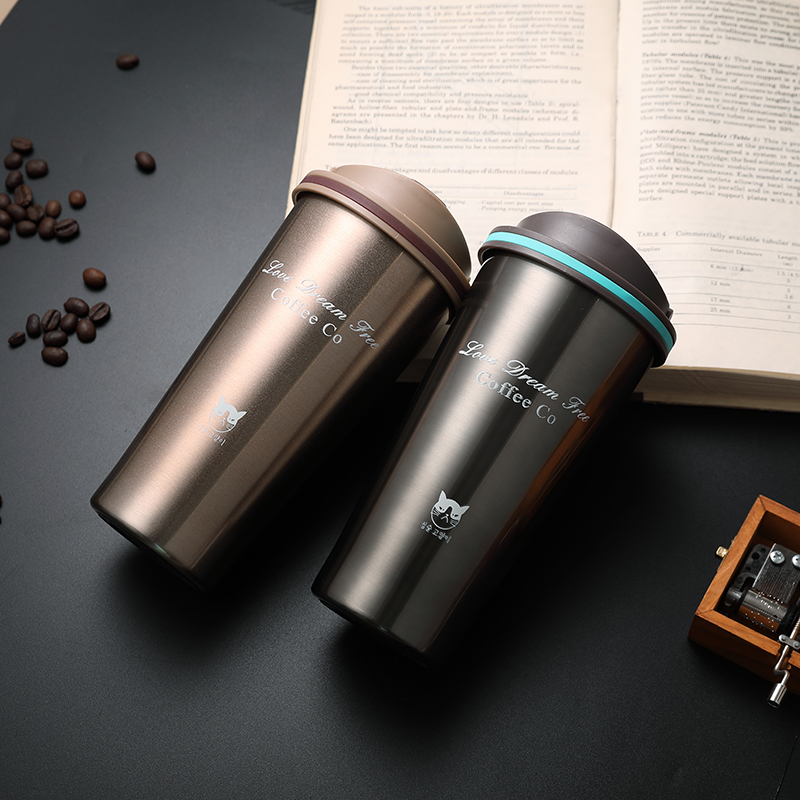 Keelorn 500ML Thermos Mug vacuum flasks Thermo mug with Lid Thermocup Seal Stainless Steel Coffee Cup for Car Water Bottles