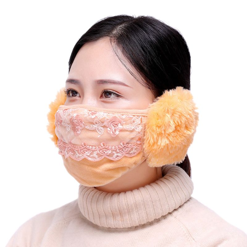 Winter Dustproof Mask Ear Protection And Keep Warm Two-in-one Mask Mouth Mask
