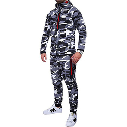 IceLion 2019 Spring Camouflage Hoodies Men Zipper Cardigan Hooded Sweatshirts Fashion Print Sportswear Men's Slim Fit Tracksuit 5