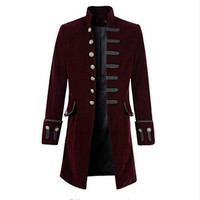 Men Coat Men'S Solid Color Fashion Steampunk Retro Long Sleeved Coat Fashion Hot Sale Autumn And Winter New Fashion Hot Sale