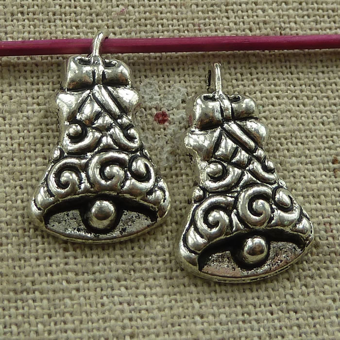 Independent 90 Pieces Tibetan Silver Small Bell Charms 24x15mm #2640 Refreshment Home & Garden