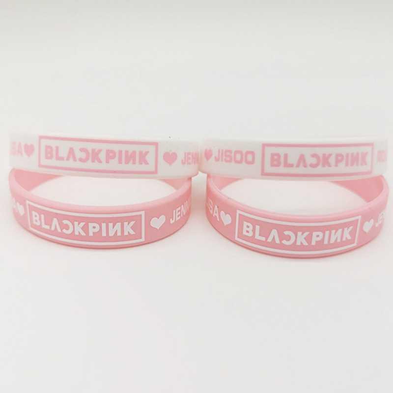 كوريا K-POP الوردي اللون سوبر ستار المشجعين BLACKPINK Beacelet K-POP الرياضة مجوهرات