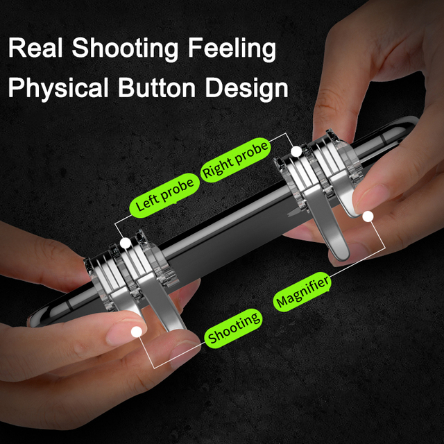 Sovawin 4-Click Metal Pubg Mobile Controller Portable Gamepad L1 R1 Trigger Aim L1R1 Shooter Phone Game Fire Button